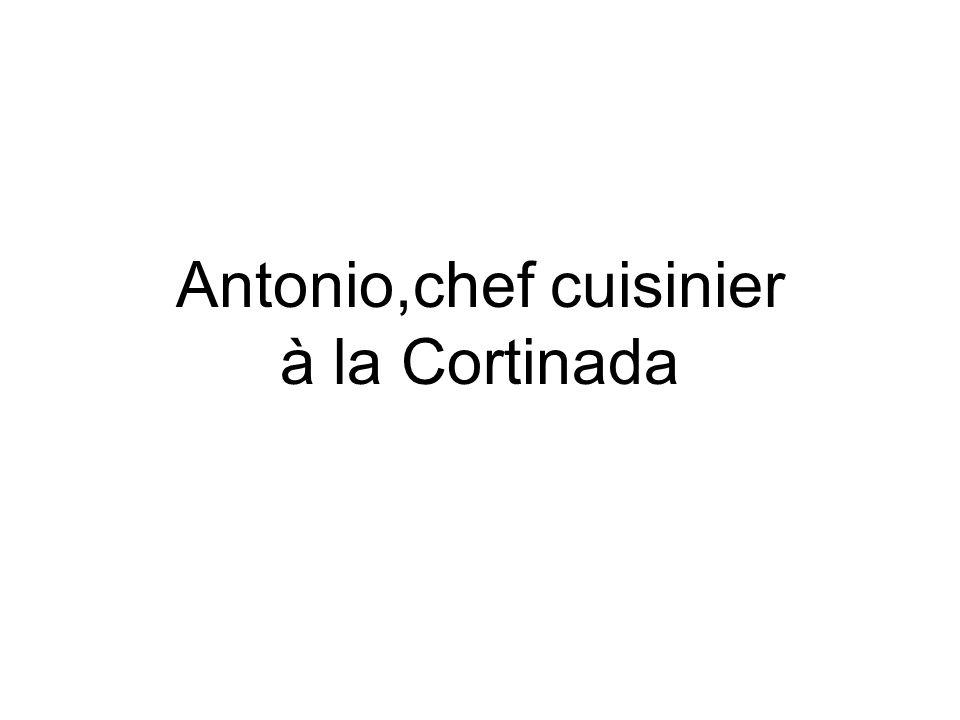 Il sappelle Antonio.