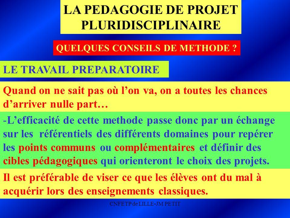 LE TRAVAIL PREPARATOIRE -Lefficacité de cette methode passe donc par un échange sur les référentiels des différents domaines pour repérer les points c
