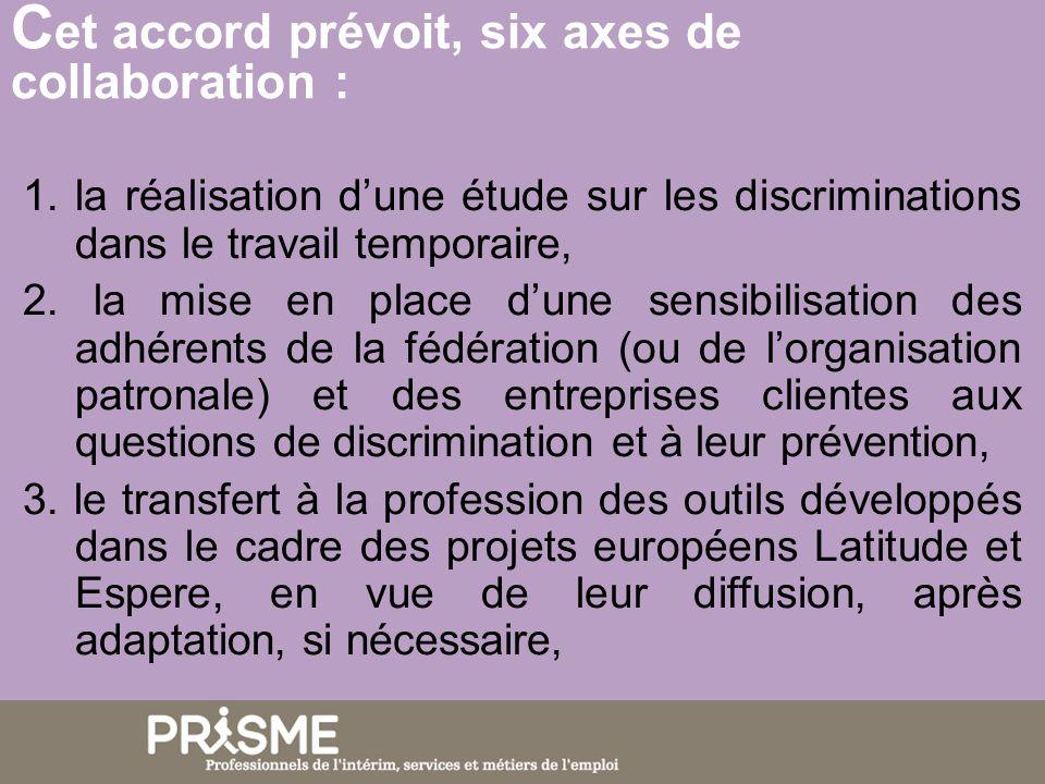 C et accord prévoit, six axes de collaboration : 4.