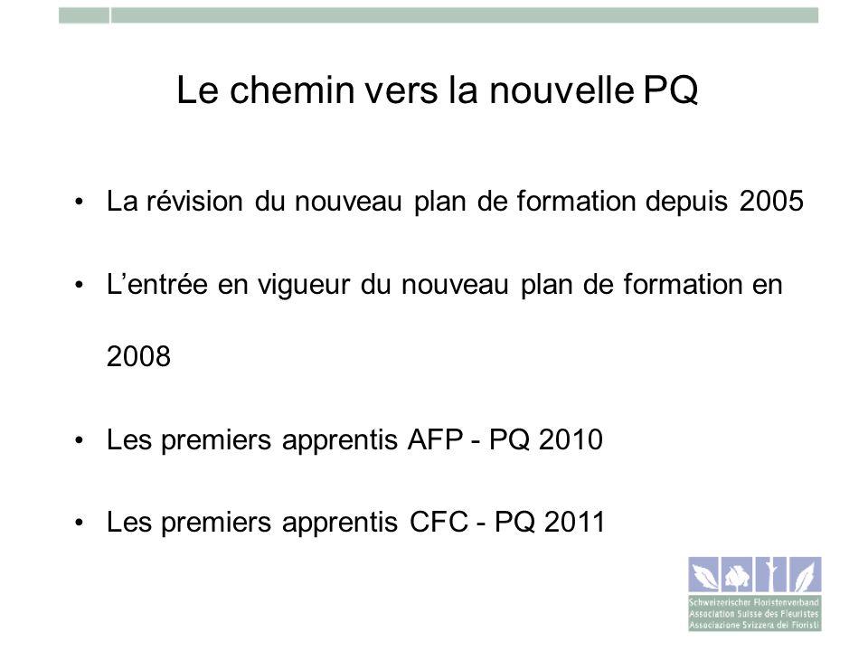 Le chemin vers la nouvelle PQ La révision du nouveau plan de formation depuis 2005 Lentrée en vigueur du nouveau plan de formation en 2008 Les premier