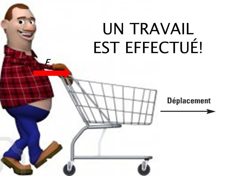 F UN TRAVAIL EST EFFECTUÉ!