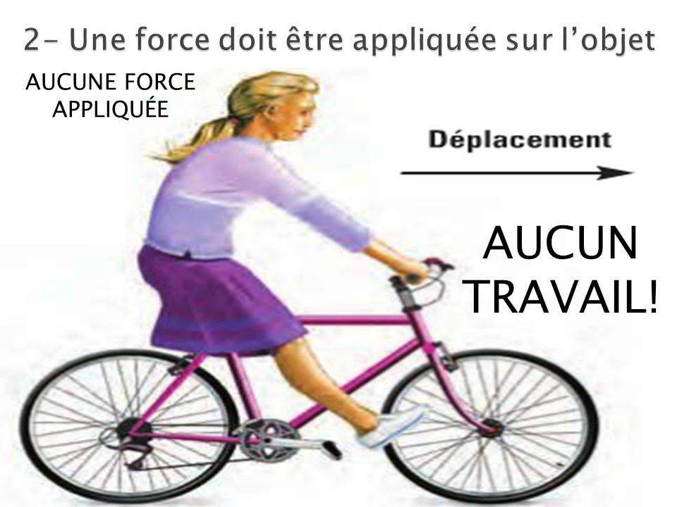 AUCUNE FORCE APPLIQUÉE AUCUN TRAVAIL!