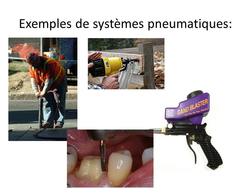 Exemples de systèmes pneumatiques: