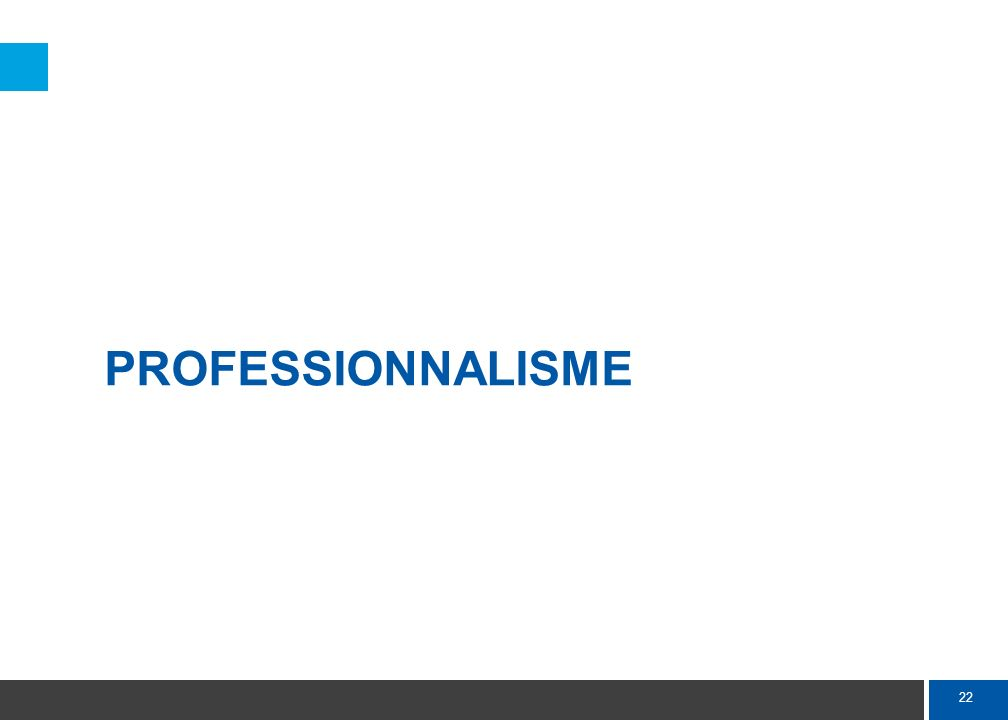 22 PROFESSIONNALISME