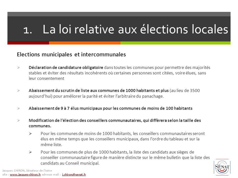 Elections municipales et intercommunales Déclaration de candidature obligatoire dans toutes les communes pour permettre des majorités stables et évite