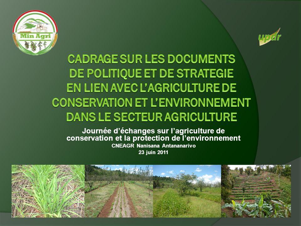 Plan dAction pour le Développement Rural (PADR) (2) Application des techniques et technologies appropriées Gestion et restauration de la fertilité et conservation des sols