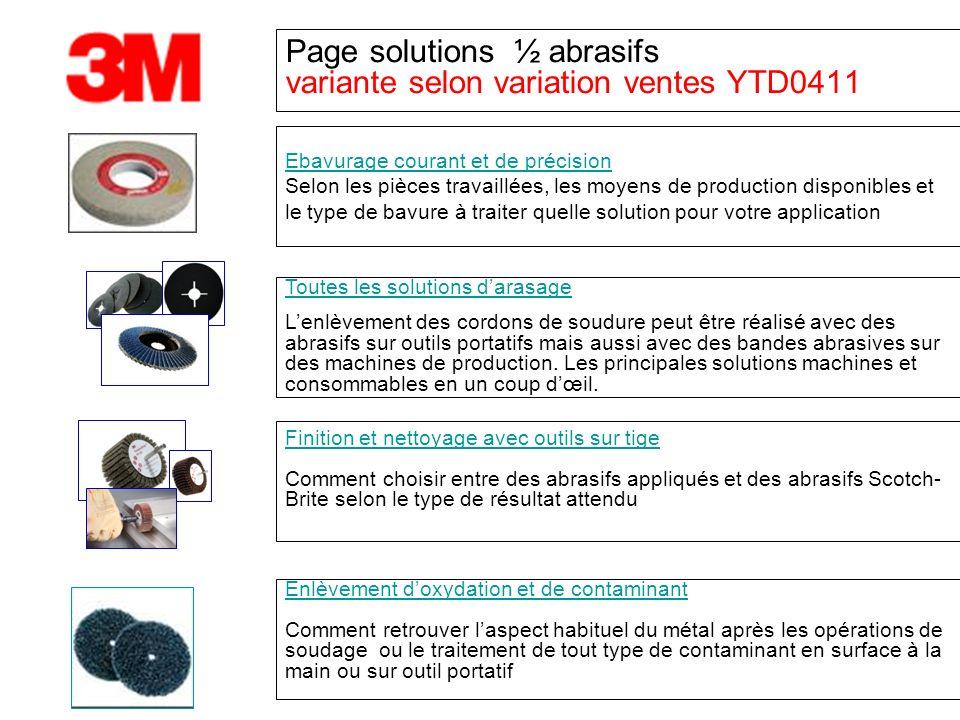 Page solutions ½ abrasifs variante selon variation ventes YTD0411 Toutes les solutions darasage Lenlèvement des cordons de soudure peut être réalisé a