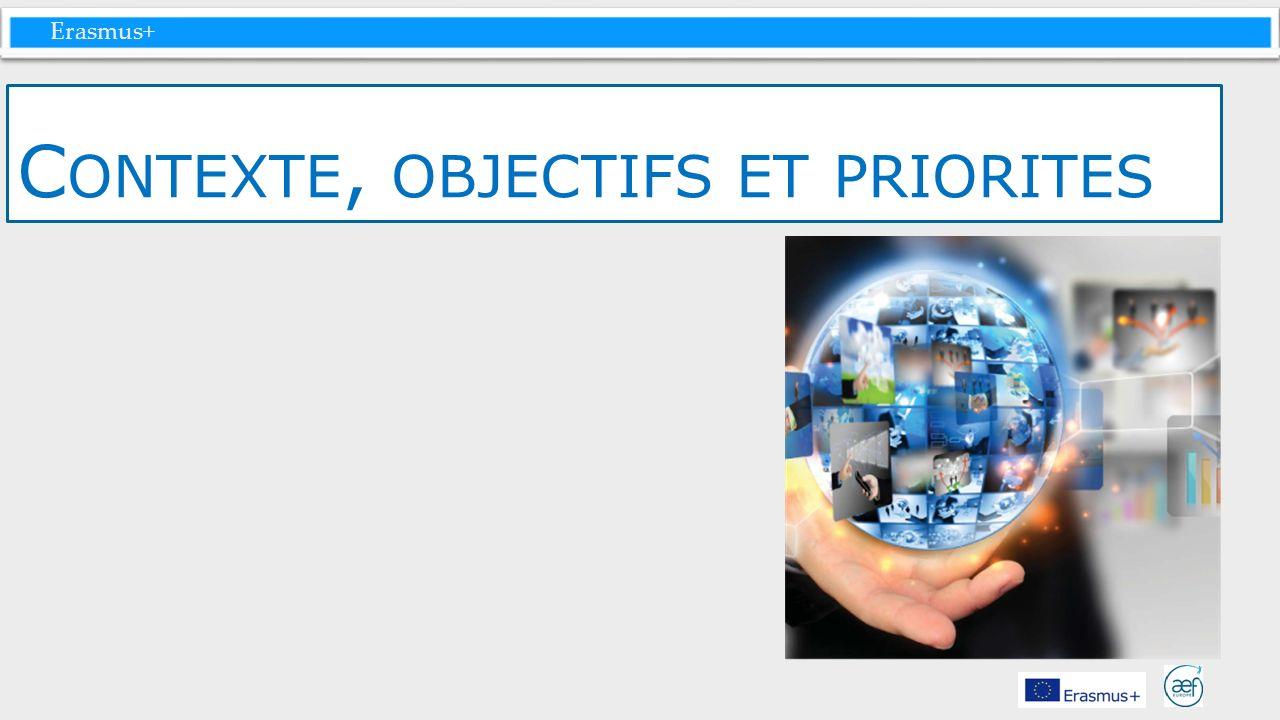 Erasmus+ C ONTEXTE, OBJECTIFS ET PRIORITES