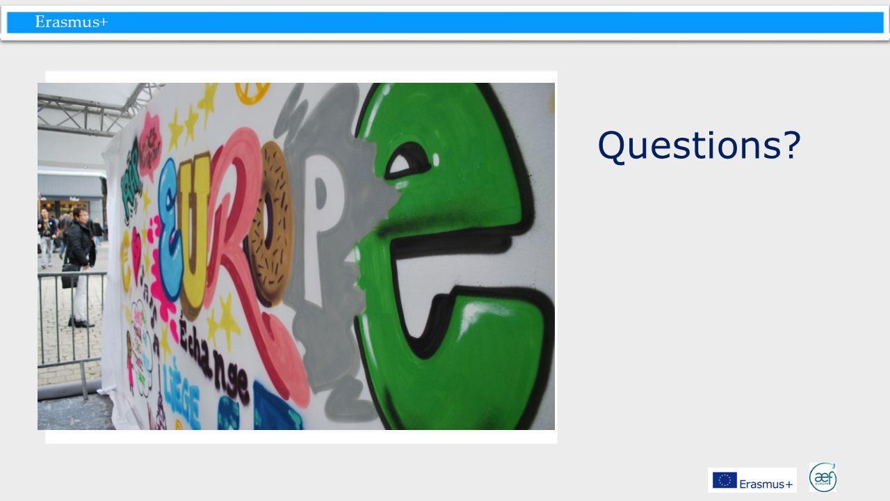 Erasmus+ Questions?