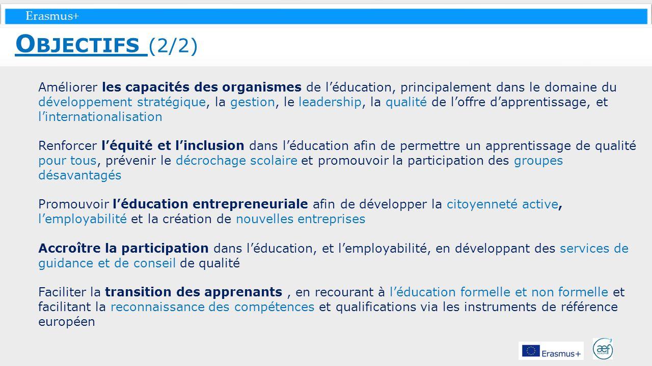 Erasmus+ Améliorer les capacités des organismes de léducation, principalement dans le domaine du développement stratégique, la gestion, le leadership,
