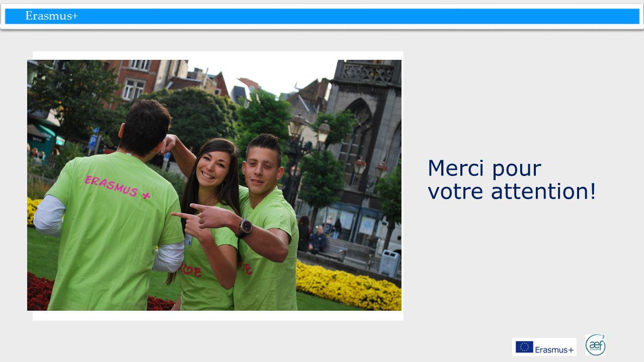 Erasmus+ Merci pour votre attention!