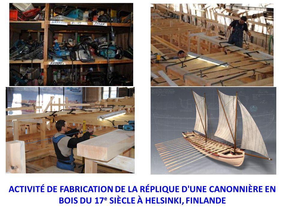 ACTIVITÉ DE FABRICATION DE LA RÉPLIQUE D'UNE CANONNIÈRE EN BOIS DU 17 e SIÈCLE À HELSINKI, FINLANDE