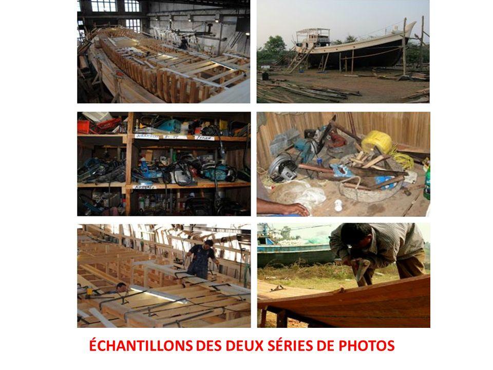 ÉCHANTILLONS DES DEUX SÉRIES DE PHOTOS