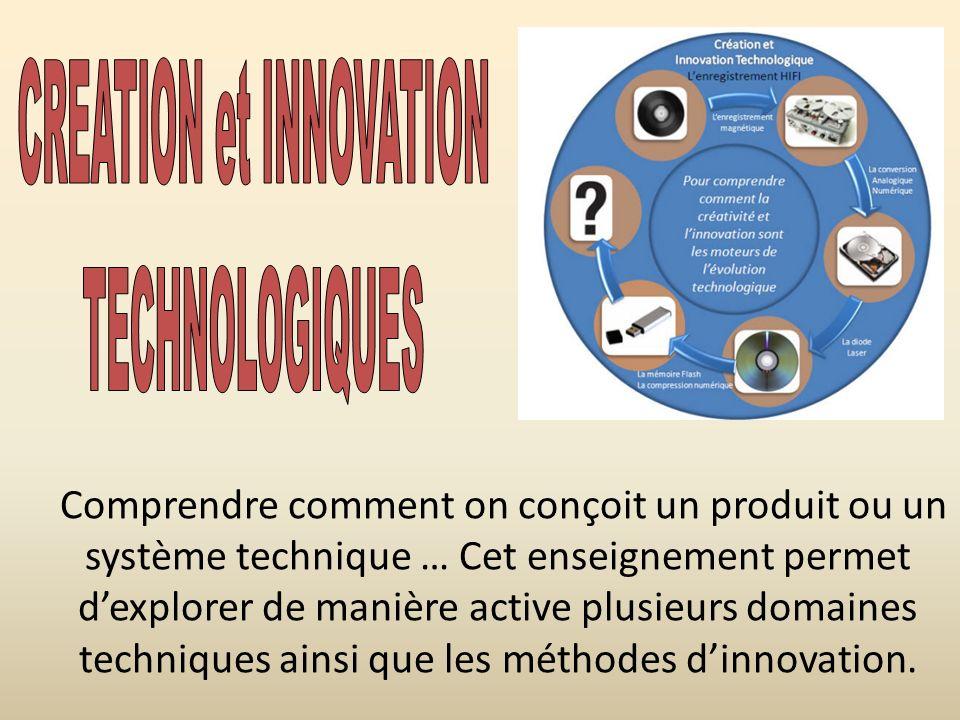 Comprendre comment on conçoit un produit ou un système technique … Cet enseignement permet dexplorer de manière active plusieurs domaines techniques a