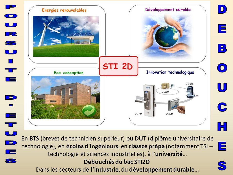 En BTS (brevet de technicien supérieur) ou DUT (diplôme universitaire de technologie), en écoles d'ingénieurs, en classes prépa (notamment TSI – techn
