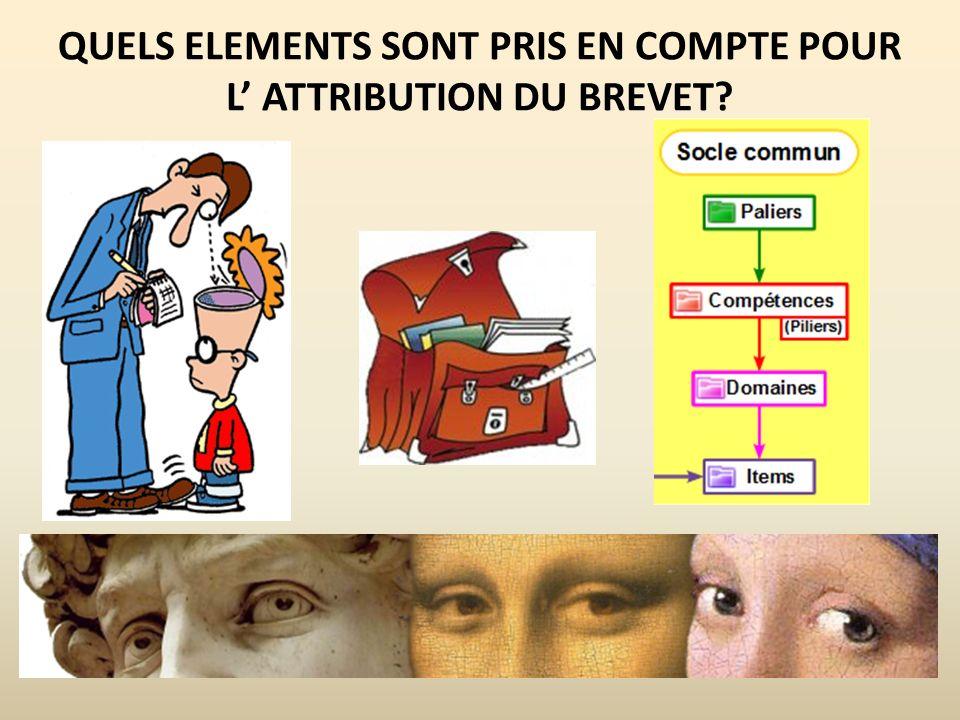 QUELS ELEMENTS SONT PRIS EN COMPTE POUR L ATTRIBUTION DU BREVET?