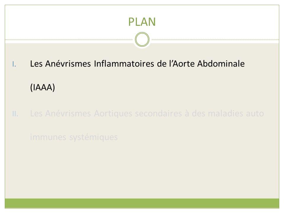 PLAN I. Les Anévrismes Inflammatoires de lAorte Abdominale (IAAA) II. Les Anévrismes Aortiques secondaires à des maladies auto immunes systémiques