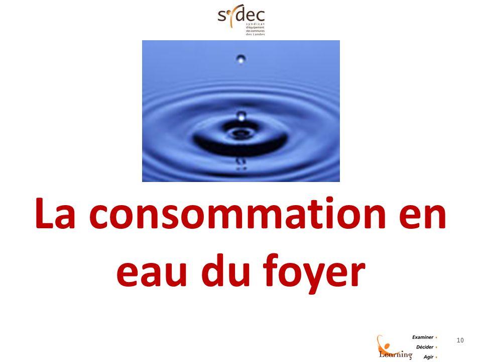 10 La consommation en eau du foyer