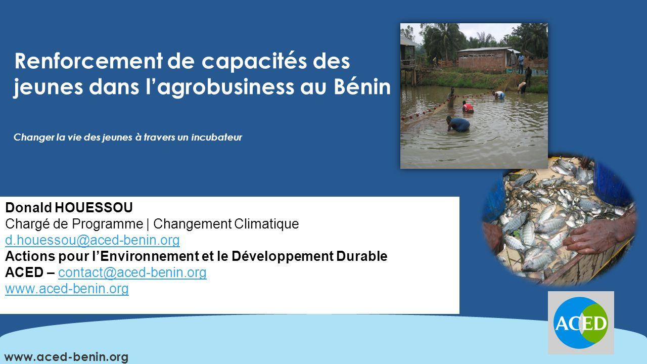 Sommaire Introduction Présentation de ACED Description du projet Approche utilisée pour la GRD: Cadre logique Conclusion www.aced-benin.org