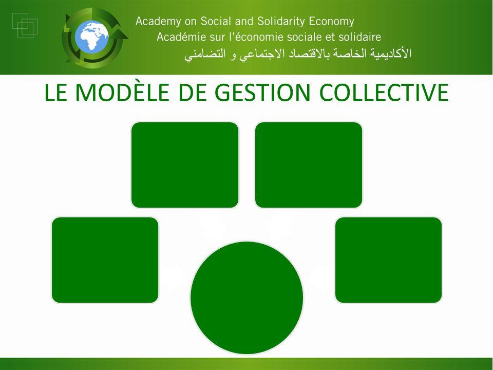LE MODÈLE DE GESTION COLLECTIVE Gouvernance et gestion Gouvernance (élaboration des politiques) Gestion (mise en œuvre des politiques) Suivi (surveill