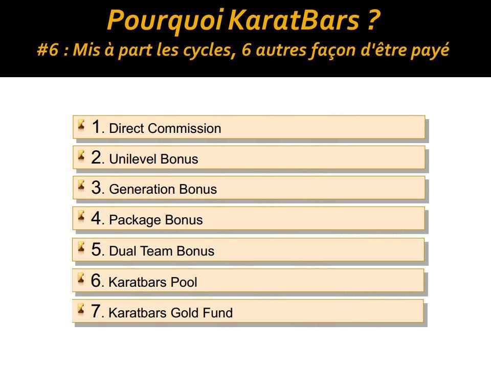 Pourquoi KaratBars ? #6 : Mis à part les cycles, 6 autres façon d être payé