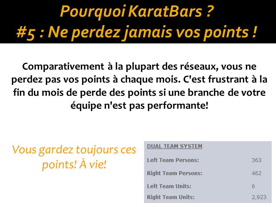 Pourquoi KaratBars .#5 : Ne perdez jamais vos points .