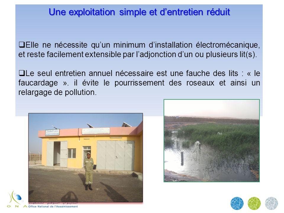 Une exploitation simple et dentretien réduit Elle ne nécessite quun minimum dinstallation électromécanique, et reste facilement extensible par ladjonc