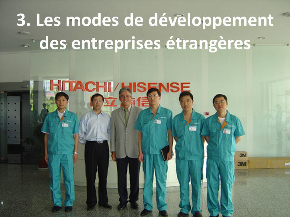3. Les modes de développement des entreprises étrangères 12