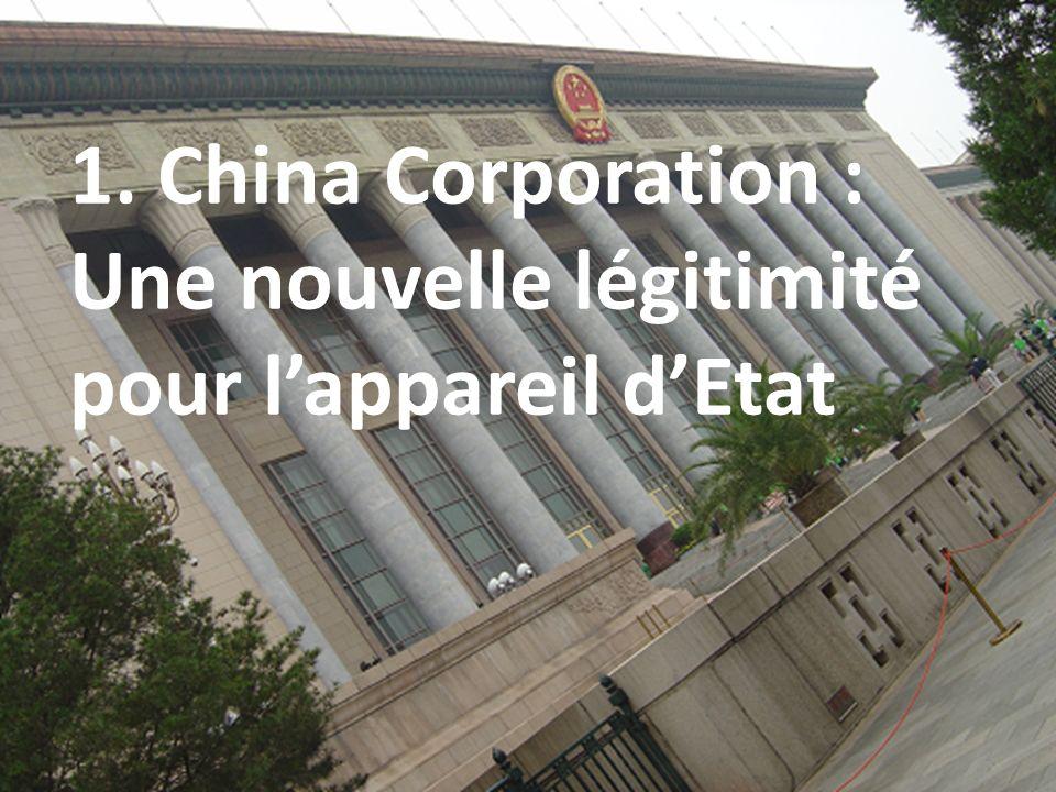 1. China Corporation : Une nouvelle légitimité pour lappareil dEtat 2