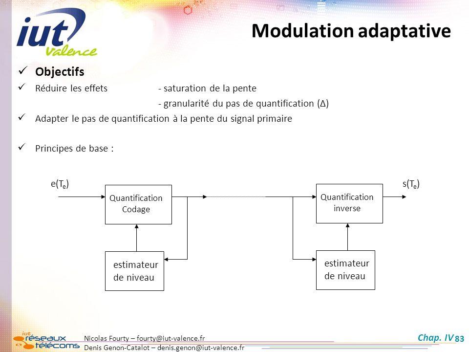 Nicolas Fourty – fourty@iut-valence.fr Denis Genon-Catalot – denis.genon@iut-valence.fr 83 Objectifs Réduire les effets - saturation de la pente - gra