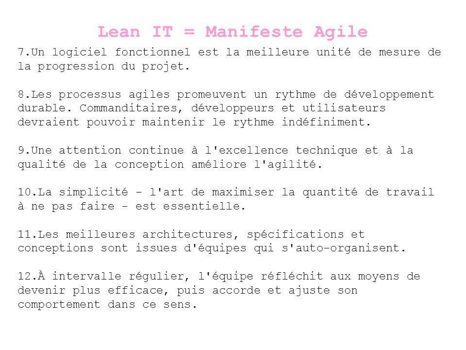 7.Un logiciel fonctionnel est la meilleure unité de mesure de la progression du projet.