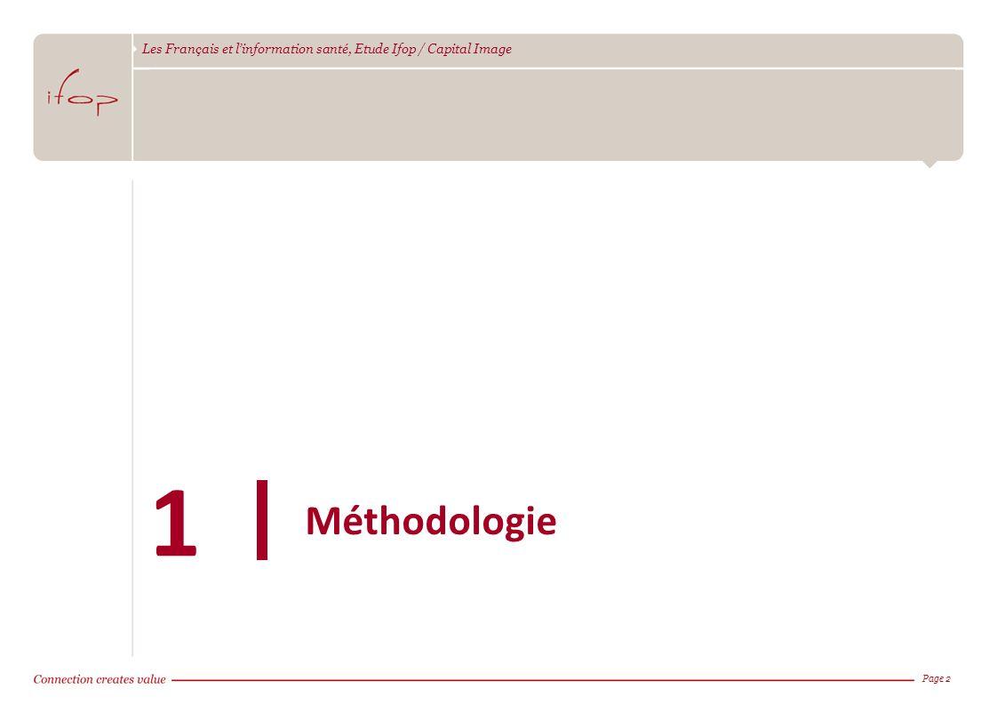 Les Français et linformation santé, Etude Ifop / Capital Image Page 2 Méthodologie 1