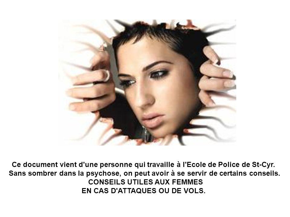 Ce document vient d'une personne qui travaille à l'Ecole de Police de St-Cyr. Sans sombrer dans la psychose, on peut avoir à se servir de certains con