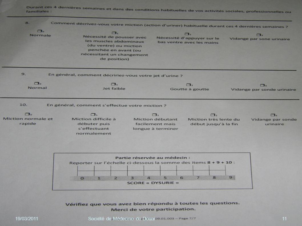 19/03/201111Société de Médecine de Douai