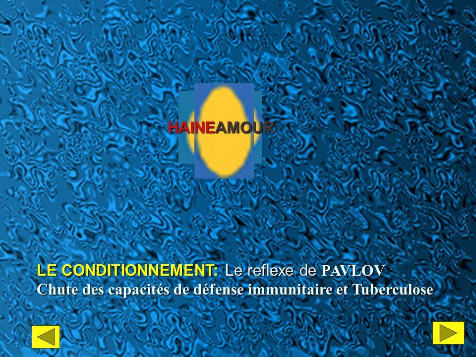 AMOUR HAINE LE CONDITIONNEMENT: Le reflexe de PAVLOV