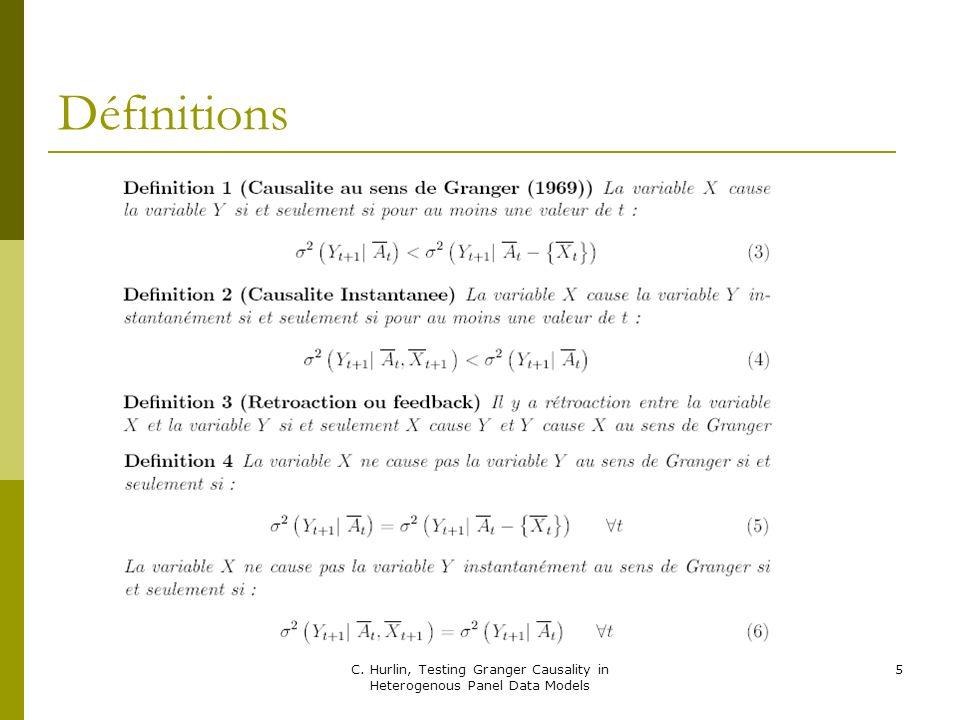 36 Tout comme dans le test dIPS en cas de rejet de la nulle de HNC on ne sait pas pour quels individus (N-N1) il y a causalité de X vers Y.