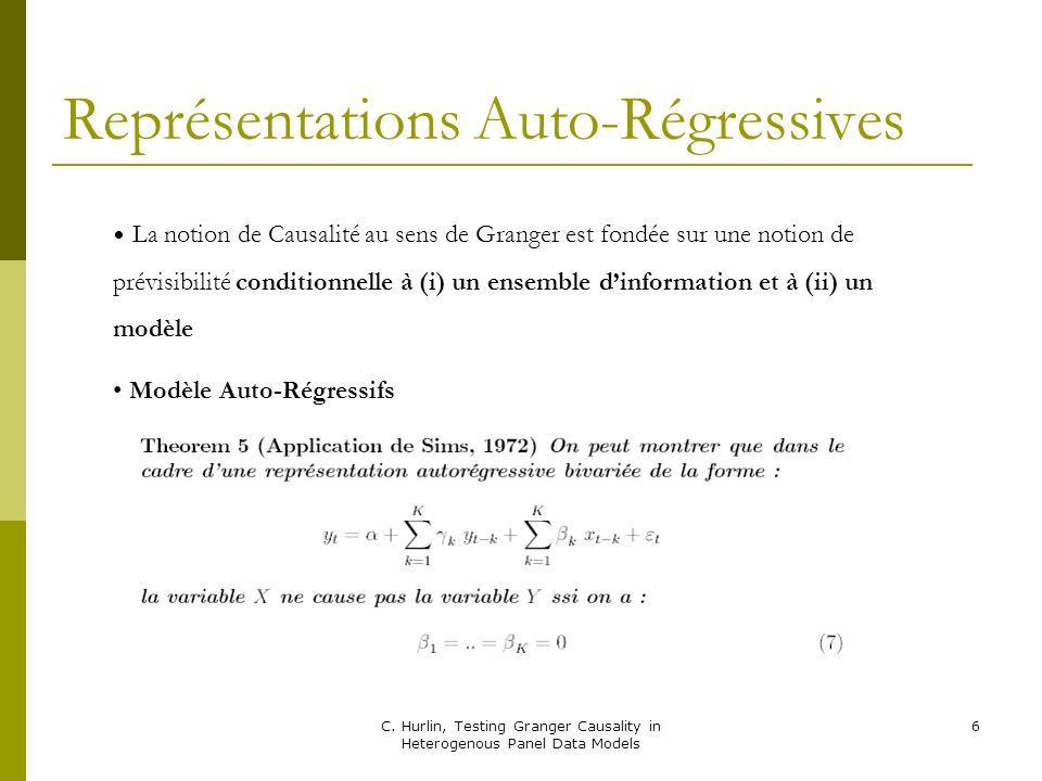 C. Hurlin, Testing Granger Causality in Heterogenous Panel Data Models 27 Une Approximation…