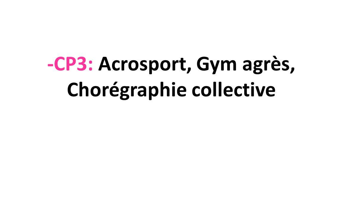 -CP3: Acrosport, Gym agrès, Chorégraphie collective