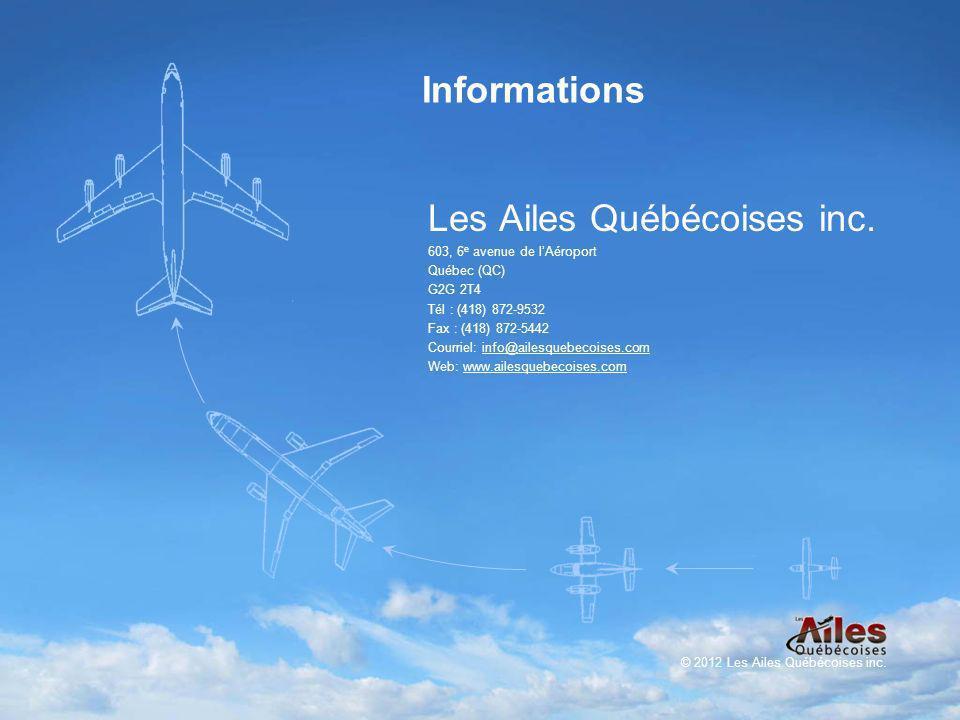 Informations Les Ailes Québécoises inc.