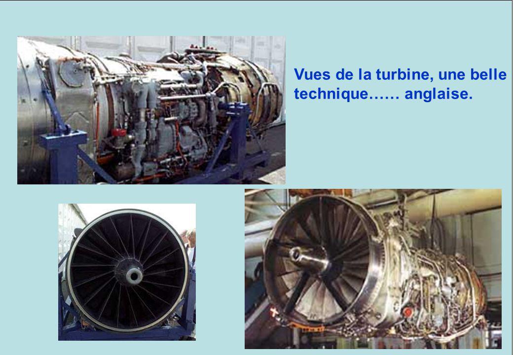 Schéma dune turbine ROLLS ROYCE. Le DUPLEIX, est équipée de 2 turbines. Le CONCORDE était équipé du même modèle de turbine, mais il y en avait 4. Vues