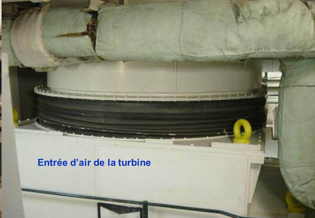 Un aperçu de la turbine à gaz ROLLS ROYCE Olympus TM3B La turbine à gaz, permet au bâtiment de monter en vitesse très rapidement, afin de suivre son «