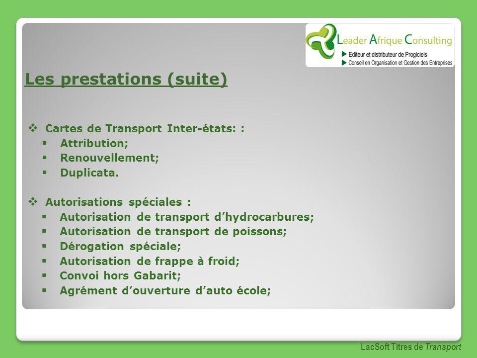 Permis international LacSoft Titres de Transport http://www.leaderafrique.com