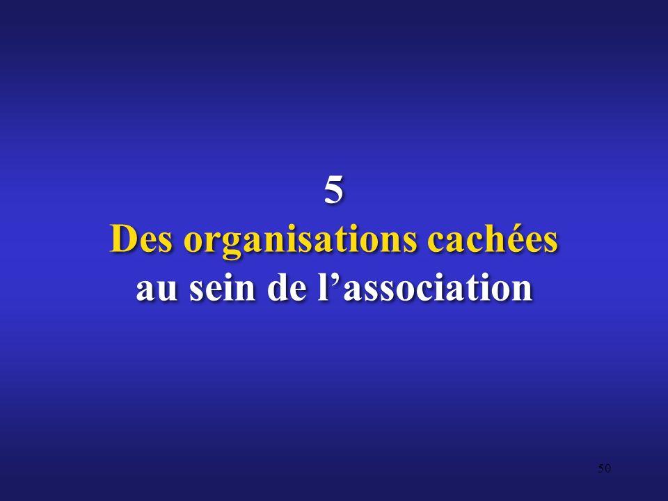 51 Des organisations cachées... ?
