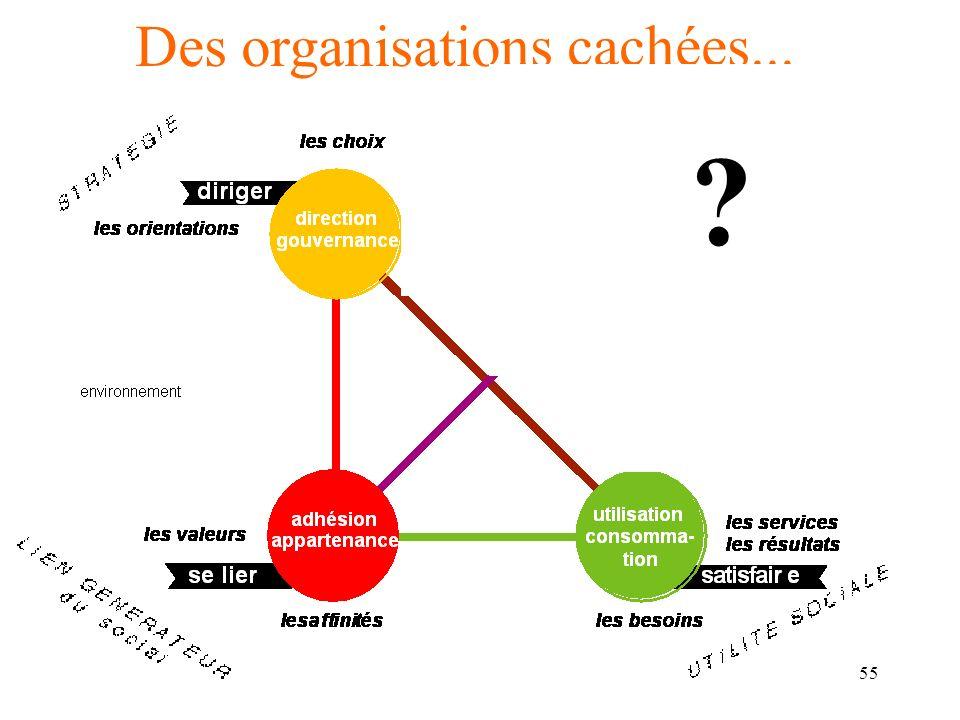 56 Des organisations cachées... De lhomo economicus à lhomo politicus, au sein dun contexte précis