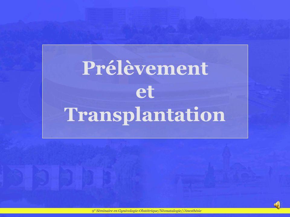Prélèvement chez un donneur en état de mort cérébrale (Del Priore) Morbidité dune hystérectomie élargie chez le donneur 7 prélèvements chez des femmes de 16 à 45 ans Prélèvements multi-organes Prélèvement utérin en bloc avec vascularisation iliaque Conservation maximale de la vascularisation utérine Meilleure reproductibilité des macro-anastomoses Biopsies à H 12: pas de modification morpho Del Priore G, Stega j, Sieunarine K et al.