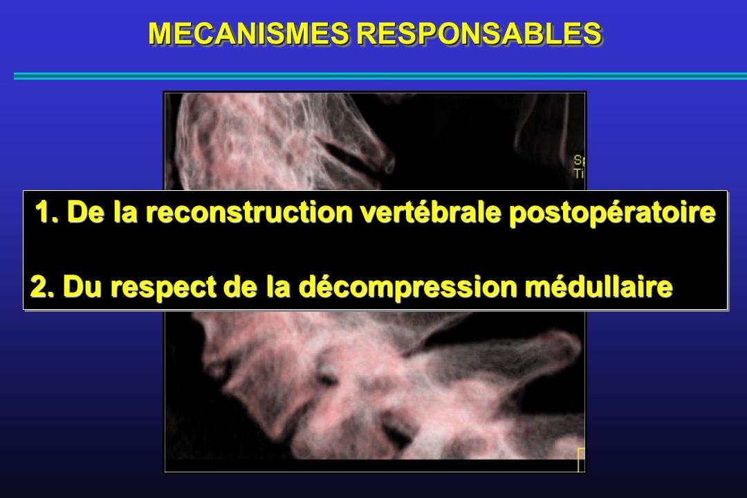3 ans 1.De la reconstruction vertébrale postopératoire 2.