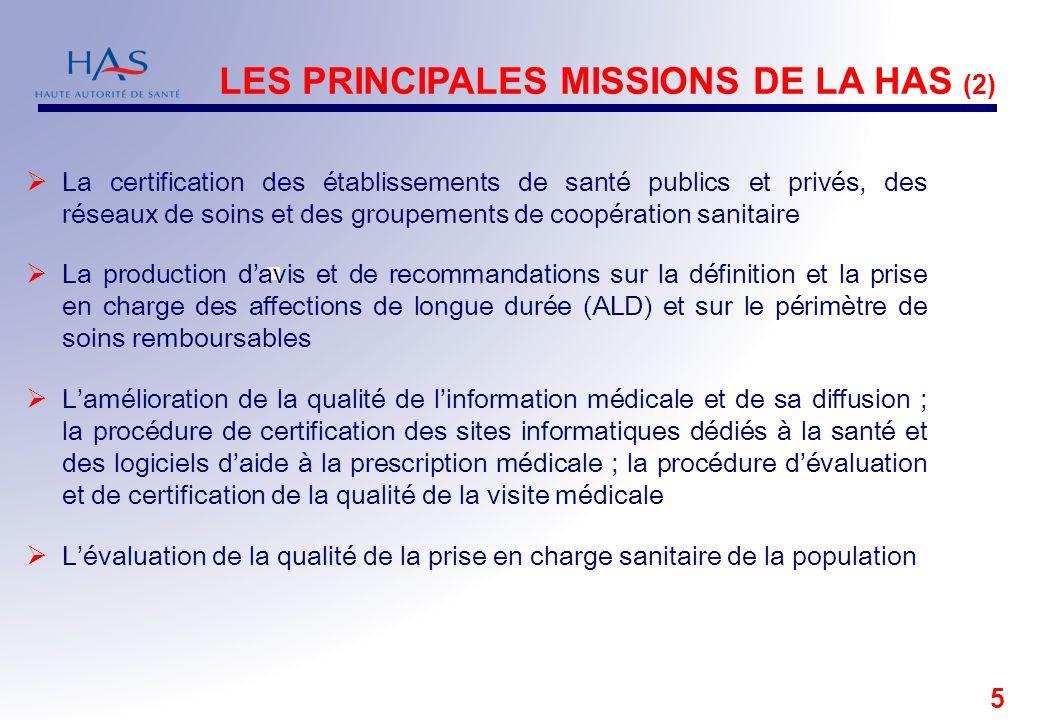 5 La certification des établissements de santé publics et privés, des réseaux de soins et des groupements de coopération sanitaire La production davis