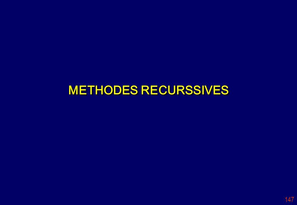 147 METHODES RECURSSIVES