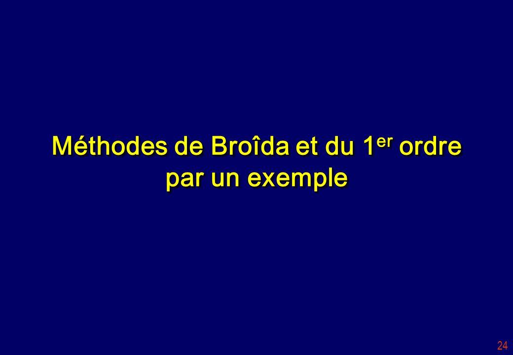 24 Méthodes de Broîda et du 1 er ordre par un exemple
