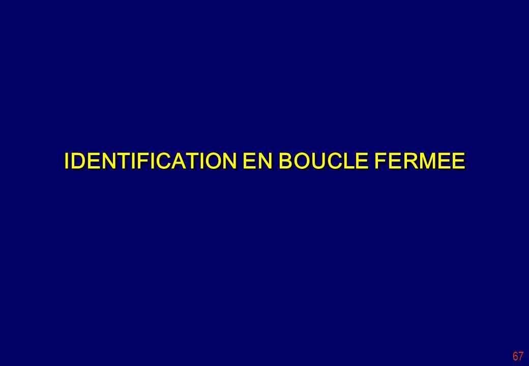 67 IDENTIFICATION EN BOUCLE FERMEE